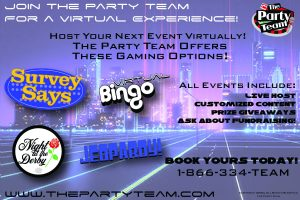 Virtual Events From The Party Team!